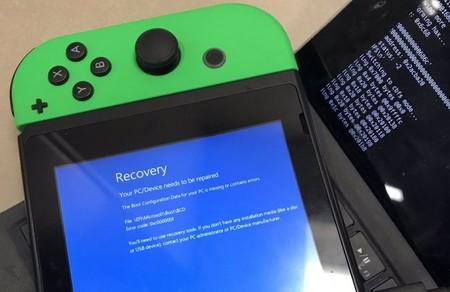 Intenta hackear una Nintendo Switch para instalarle Windows 10 y se encuentra con el pantallazo azul de la muerte
