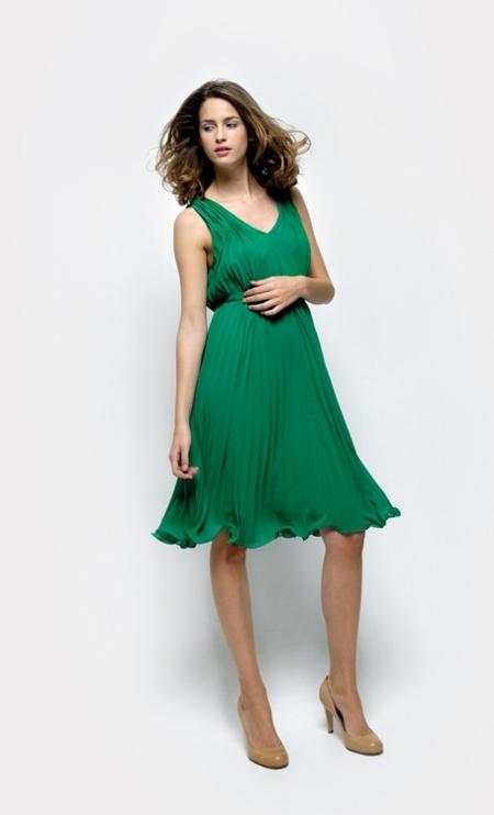 vestido verde naf naf