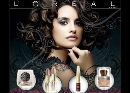 L'Oréal&Penélope Cruz. Colección Brunete Beauty.