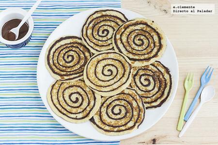 Tortitas americanas en espiral: receta para un desayuno o merienda goloso y original