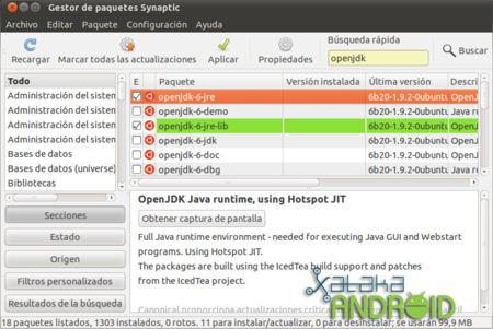 synaptic ubuntu jdk