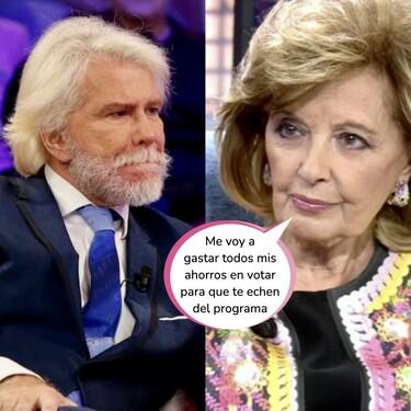 María Teresa Campos, hecha polvo tras el fichaje de Bigote Arrocet en Telecinco: Terelu se pronuncia y saca las garras por la matriarca