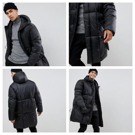 Este abrigo de Asos con plumas y manoplas incluidas será tu mayor aliado con las bajas temperaturas
