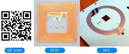 QR code, RFID y NFC