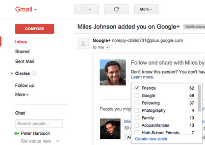 Google+ mejora sus notificaciones enviadas vía correo electrónico