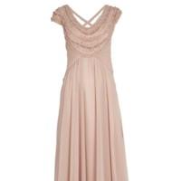 vestido rosa empolvado de bdba