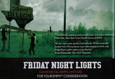 'Friday Night Lights' for your Emmy consideration, la imagen de la semana