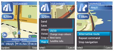 Nokia Maps: navegador GPS para el teléfono móvil