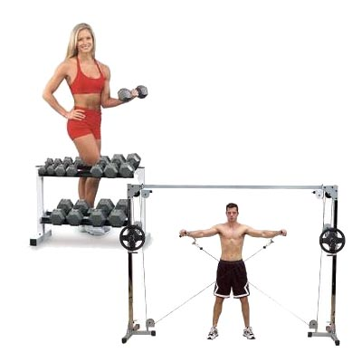 Polea o mancuerna a la hora de entrenar for Poleas para gimnasio