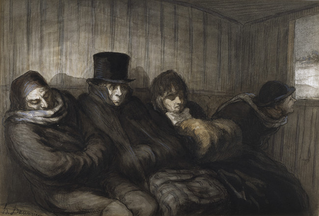 Honore Daumier The Second Class Carriage Walters 371224