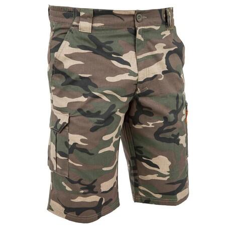 Bermuda Hombre Camuflaje Militar Verde