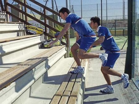 Saltos consecutivos con la misma pierna