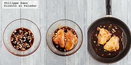 Pollo marinado con miel y salsa de soya. Receta fácil para cualquier día de la semana