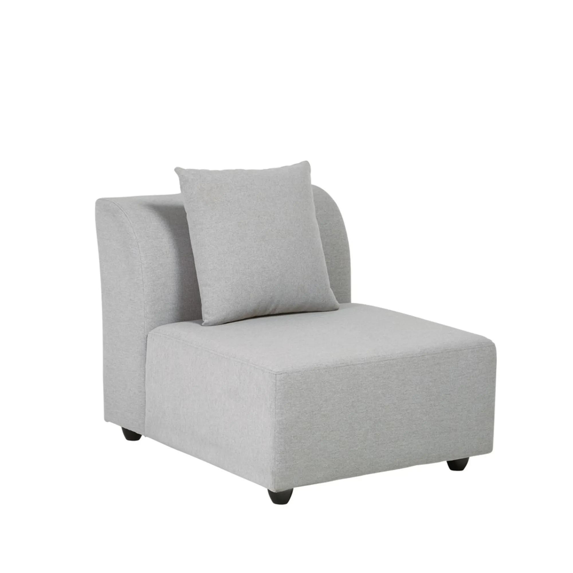 LUCY- Butaca de sofá modular gris claro