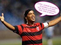 Ronaldinho se adelanta a las navidades dándole a la zambomba