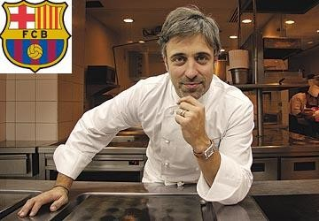 Sergi Arola ofrece una clase sobre cómo y qué comer a los jugadores del FC Barcelona