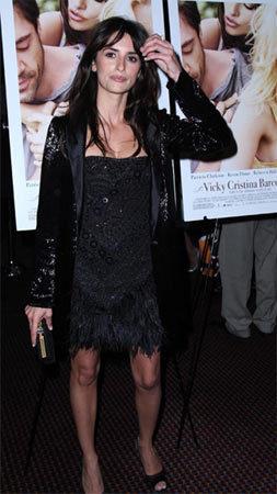 Penélope Cruz en la premiere de Vicky Cristina Barcelona en Nueva York