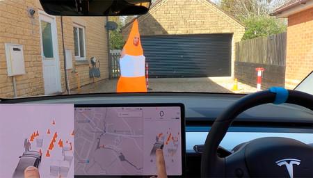 ¿Cono o persona? Esto muestra el sistema de visualización de Tesla si salimos disfrazados delante del coche