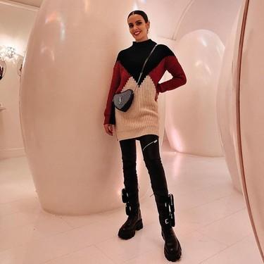 Las botas de cordones con bolsillos de Cristina Pedroche son de Prada y ya eran famosas entre el mejor streetstyle (y las ha llevado hasta Rosalía)