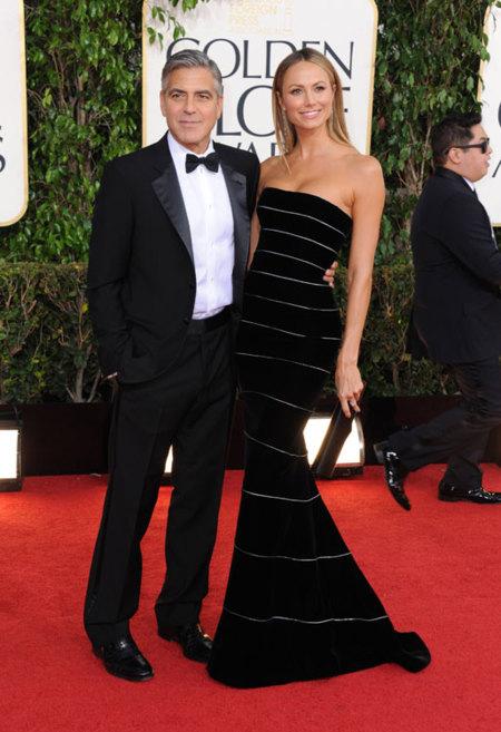 Clooney y Stacey Keibler