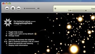 Modifica Magnetosphere y el nuevo visualizador de iTunes 8