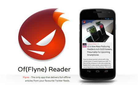 Flyne Reader, las noticias de tus feeds de Twitter totalmente offline