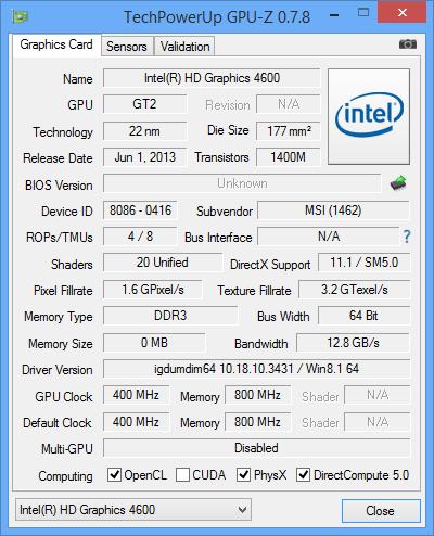 MSI AG220 hardware info