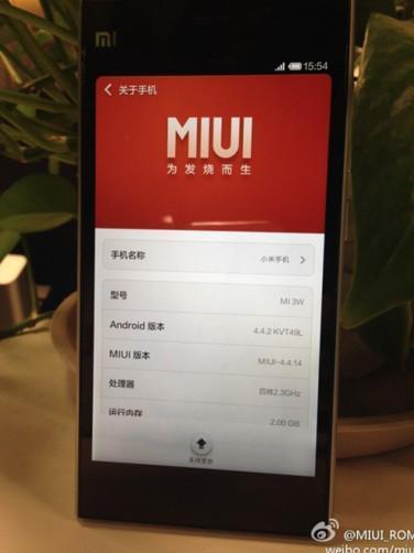 La beta de MIUI V6, derivada de Android 4.4 KitKat, a prueba en el Xiaomi Mi3