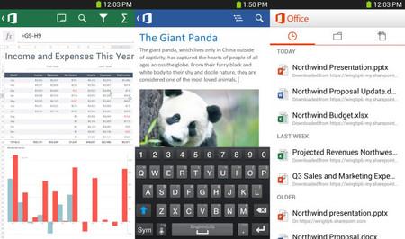 Office aterriza a Android, pero sólo para suscriptores de Office 365