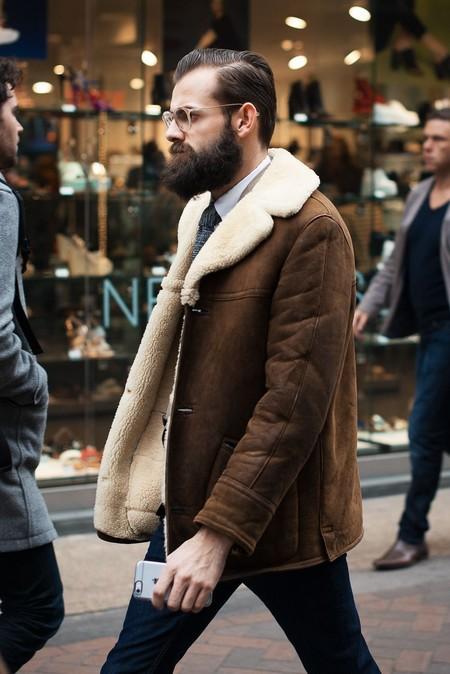 El Mejor Street Style De La Semana Chaqueta Abrigo Borreguillo Shearling Jacket 04