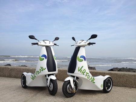 Virto S, un llamativo triciclo eléctrico apto para circular de pie por las vías públicas