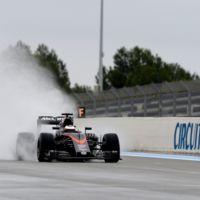 El motor Honda vuelve a fallar en los test de neumáticos de agua en Paul Ricard