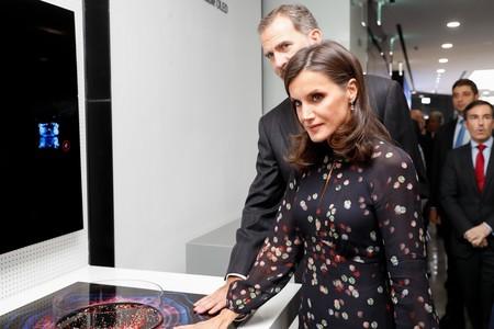 La reina Letizia luce un perfecto vestido de entretiempo de Massimo Dutti en su viaje por Corea del Sur (y que todavía está disponible)