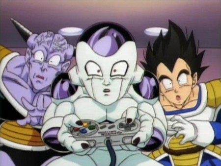 Ginyu Frieza And Vegeta Playing Snes
