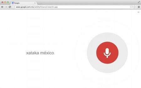 Google Chrome 27: Búsquedas por voz en el navegador