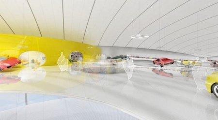 Enzo Ferrari Museum Rendering interior 2