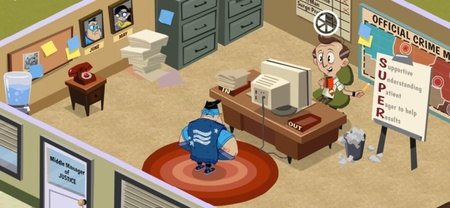 Double Fine anuncia 'Middle Manager of Justice', su primer juego para iOS. Gestionando superhéroes
