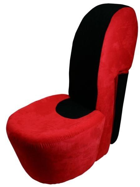 silla zapato roja