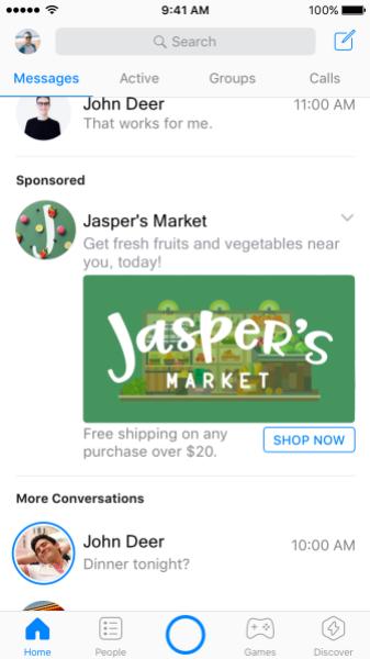 Jaspers Messenger Ad