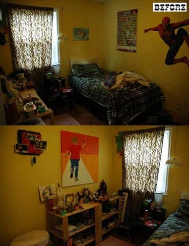 Antes y después: un dormitorio infantil que crece con el niño