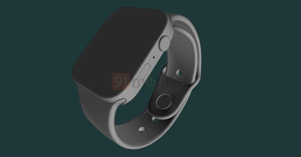 Cuadrado y con la pantalla más grande, así sería el nuevo Apple Watch Series 7 según unos planos CAD renderizados