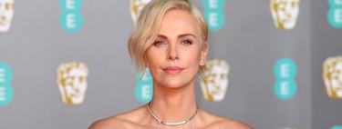 Charlize Theron luce el color de moda de la próxima primavera en los BAFTA 2020