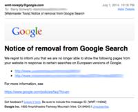 Otro efecto del derecho al olvido de Google: censura en los medios