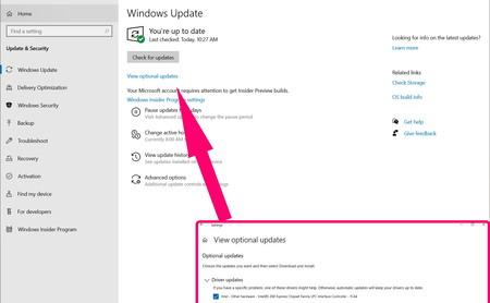 Windows 10 facilitará la instalación de los drivers opcionales
