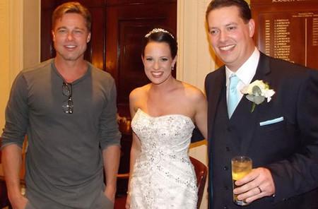 Brad Pitt con otra pareja de recién casados