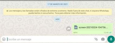 Cómo enviar vídeos sin perder calidad en WhatsApp mandándolos como archivos