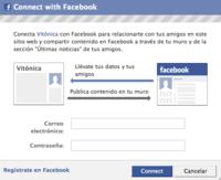 Ahora puedes entrar en Vitónica con tu cuenta de Facebook