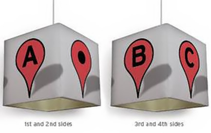 Pin 2 Lamp Shade, la lámpara inspirada en Google Maps
