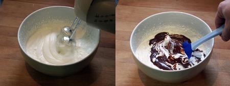 mousse chocolate al caramelo elaboración 2