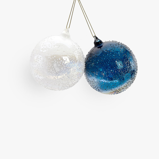 Zara Home 9383060400 1 1 2 Jpel Azul Es El Nuevo Rojo Cristal Azul Y Estrellas Doradas Total Look En Terciopelo Para El Arbol